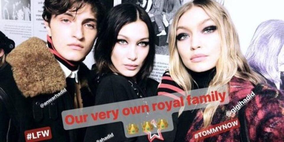 Gigi, Bella, And Anwar Hadid Walked The Catwalk Together For The First Time