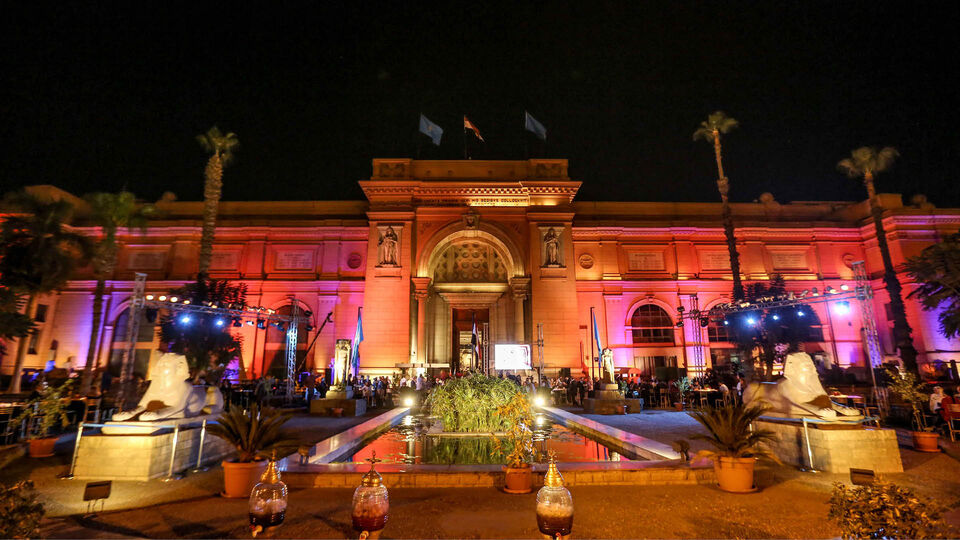 Ancient Meets Contemporary Art At The Egyptian Museum In Cairo
