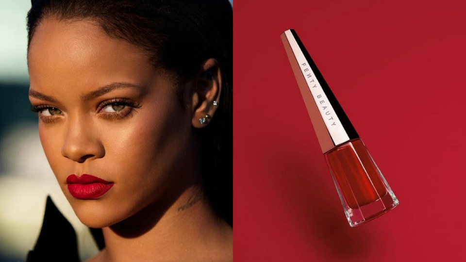 Rihanna's Fenty Beauty Is Dropping A Red Liquid Lipstick