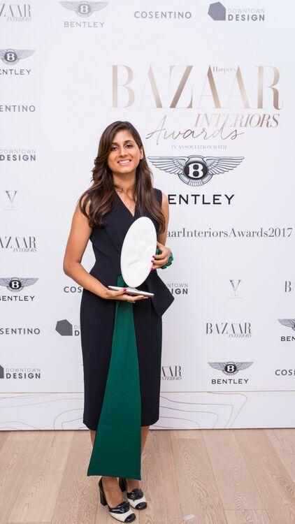 Bazaar Interiors Presents Trophy To 2017 Winners
