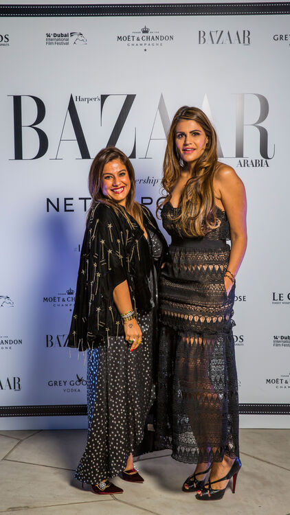 SPOTTED: Red Carpet Arrivals At The Harper's Bazaar Arabia X NET-A-PORTER Party