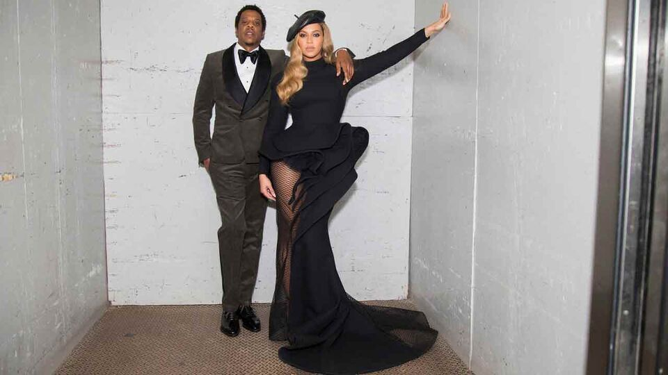 Beyoncé Wears Azzi & Osta To The Annual Clive Davis Pre-Grammy Party