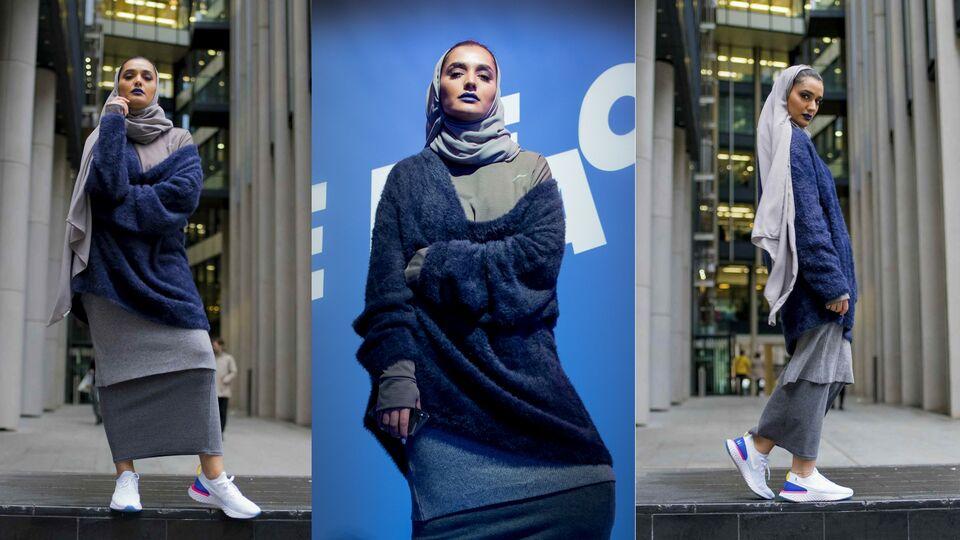 Nike Photographs Emirati Influencer Mthayel Al Ali In The Nike Epic React Flynit