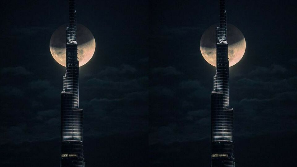 Watch: Sheikh Hamdan Captures Timelapse Of Super Moon Behind The Burj Khalifa