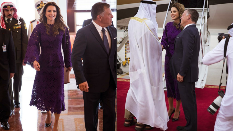 Queen Rania Just Stepped Out Wearing Bambah Boutique