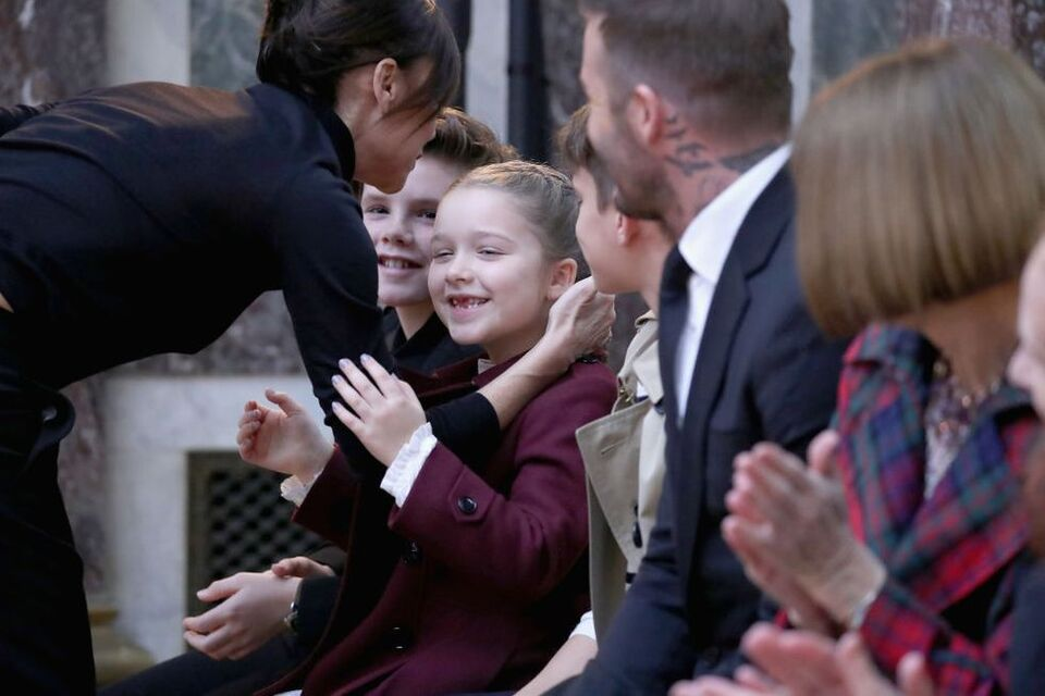 The Beckhams Sit FROW At Victoria Beckham's New York Fashion Week Show