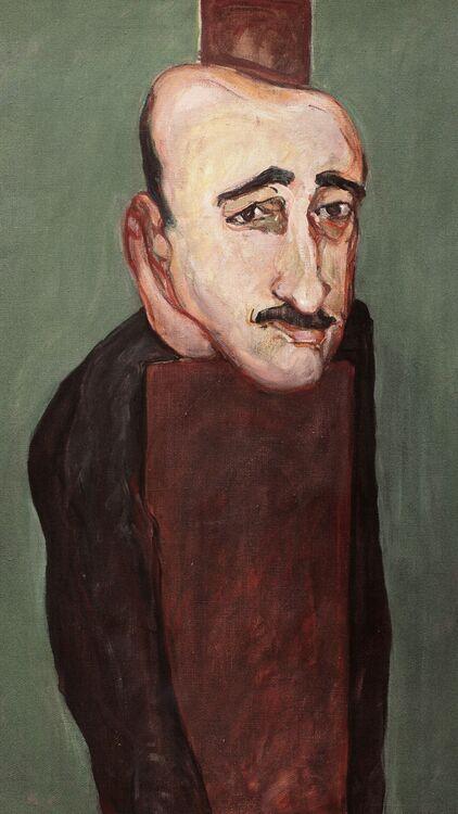 Marwan Kassab Bachi. Munif Al Razzaz. 1965. Oil on canvas. 100x81cm.
