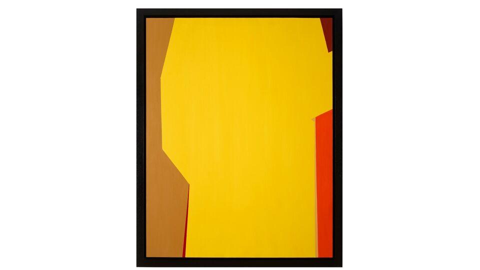 Saliba Douaihy. Kannoubine Valley (Fake). 1972. Acrylic on canvas. 156.5x124x4.8cm. Courtesy of Ramzi and Saeda Dalloul Art Foundation.
