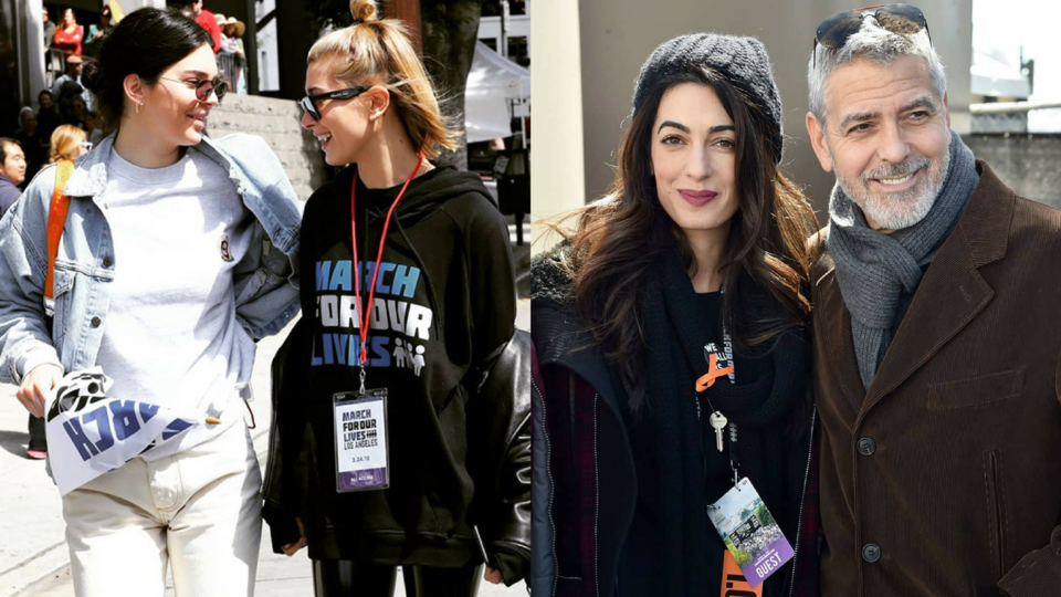 Celebrities Take To The Streets And Social Media For March For Our Lives