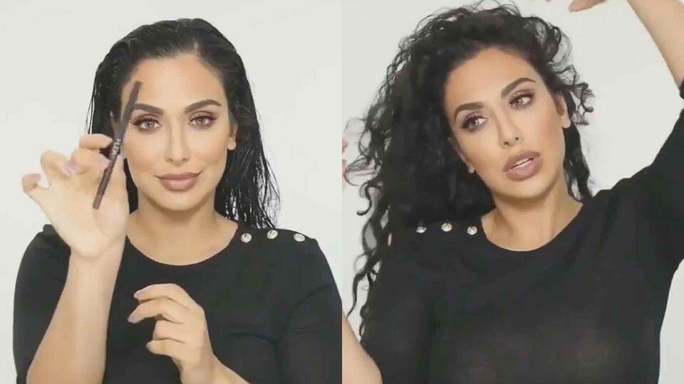 Huda Kattan Shows Followers How To Curl Hair With Lip Pencils