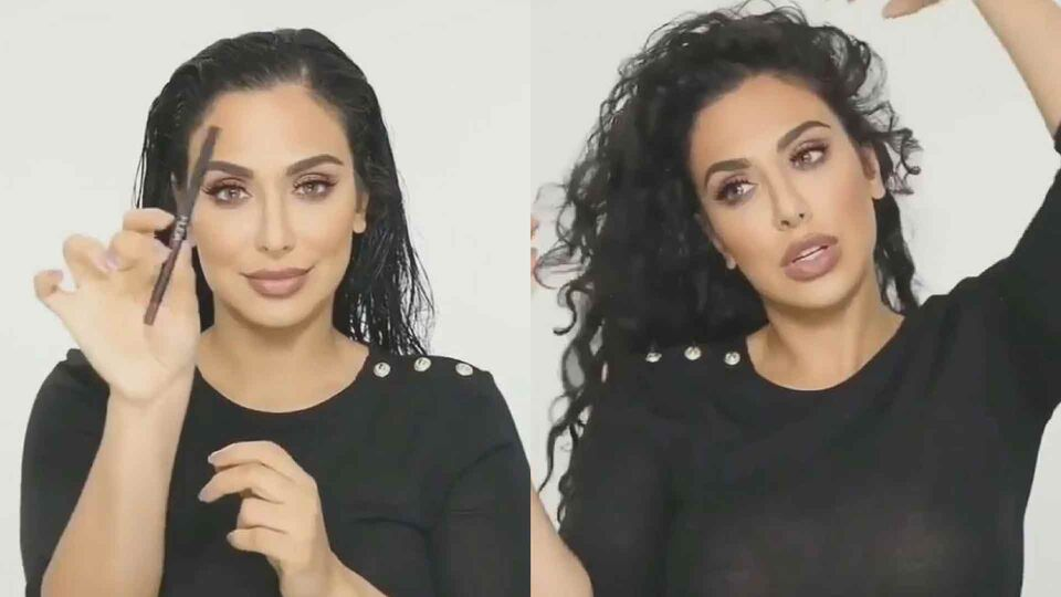 Huda Kattan Shows Followers How To Curl Hair With Lip Pencils
