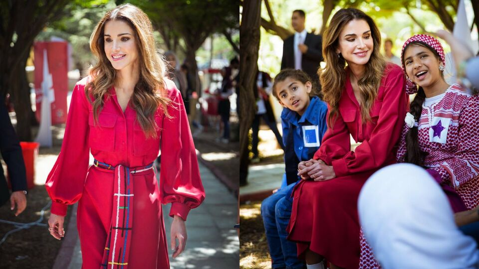 Queen Rania Steps Out Wearing All Things Mochi