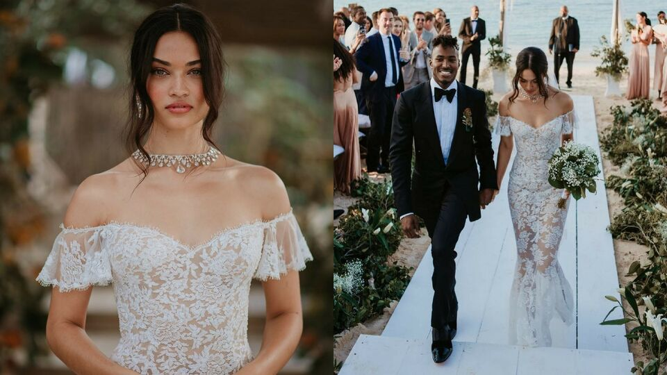 Shanina Shaik's Bahamas Beach Wedding Looked Incredible