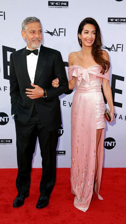 Amal Clooney Chose A Pink Prada Number At AFI Gala