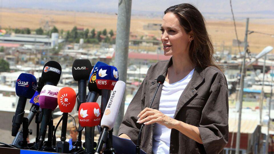 "Angelina Jolie Speaks Of ""Worst Devastation"" She Has Seen During Visit To Iraqi Refugee Camp"