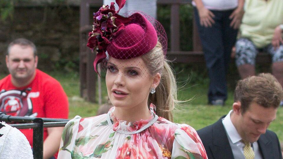 Lady Kitty Spencer Just Wore A Stunning Floral Dress To The Wedding Of Princess Diana's Niece