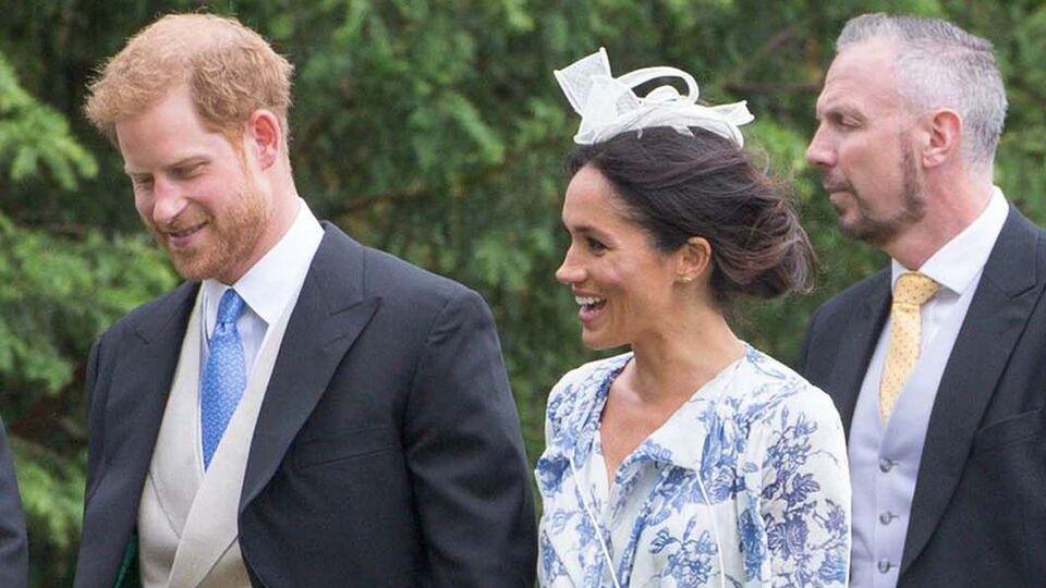 Meghan Markle Just Wore a Flawless Oscar De La Renta Wrap Dress To Princess Diana's Niece's Wedding