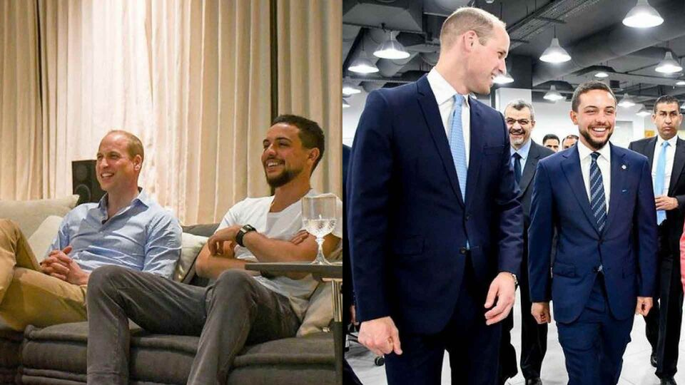 Prince William Watched The World Cup With Jordan's Crown Prince Hussein