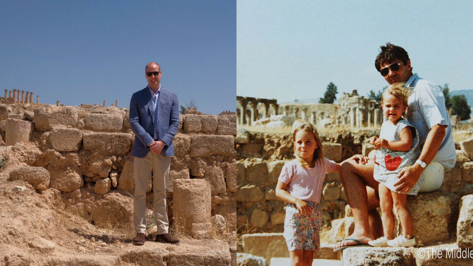 Prince William Recreates Kate Middleton's Family Photo In Jordan From The '80s