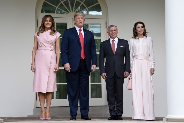 Queen Rania Wore The Perfect Outfit To Visit The White House