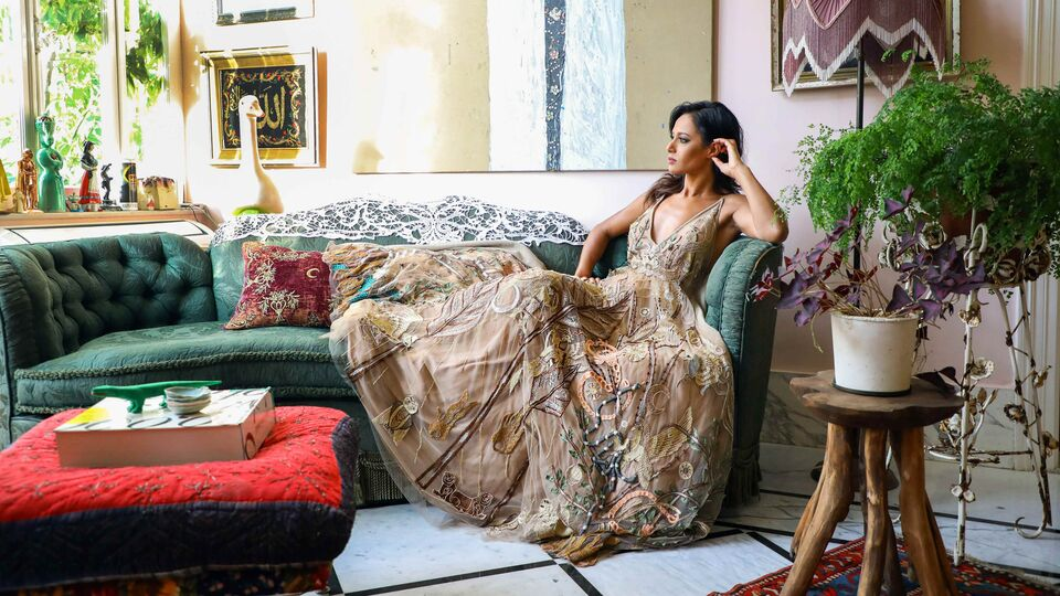 Rula Jebreal Wore A Spectacular Dress By Lebanese Designer Jean-Louis Sabaji To BIAF