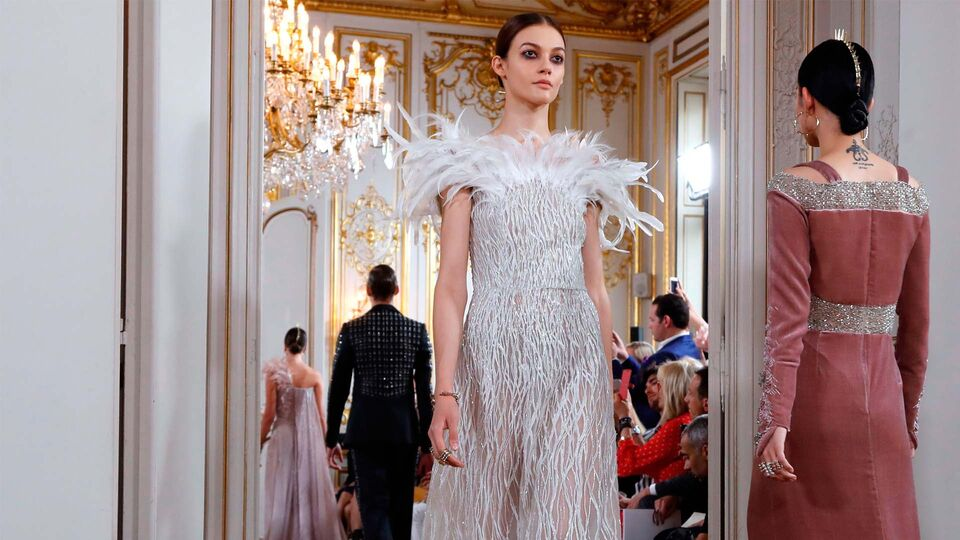 Saudi Model Taleedah Tamer Makes Her Haute Couture Debut At Antonio Grimaldi