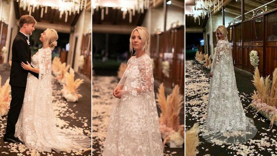All The Details Of Kaley Cuoco's Custom Reem Acra Wedding Dress