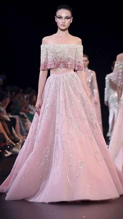 Georges Hobeika's Couture Fall 18 Show Was Straight Out Of A Fairytale