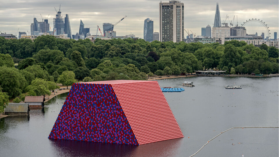 Christo Reimagines Mesopotamia In London's Serpentine Lake