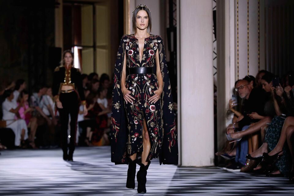 Supermodel Alessandra Ambrosio Opens For Zuhair Murad At Paris Haute Couture Fashion Week