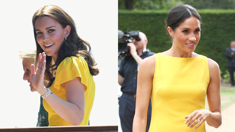 Duchess Of Cambridge Seeks Fashion Inspiration From The Duchess Of Sussex At Wimbledon Men's Final