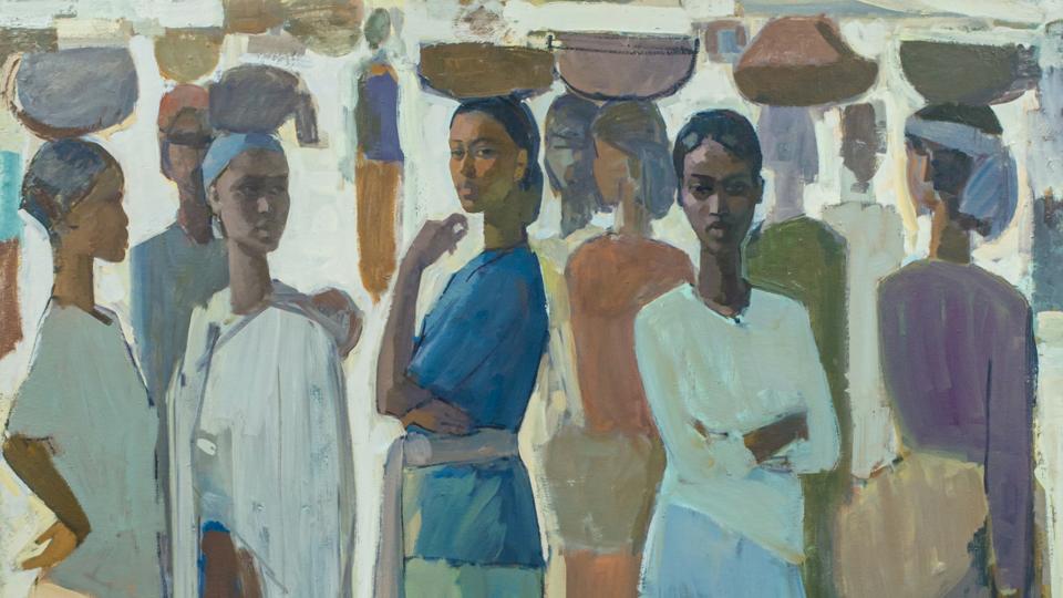 Ethiopian Painter Tadesse Mesfin's Women of the 'Guleet' at Addis Fine Art