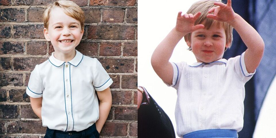 Prince George And Prince William Had A Matching Style Moment, 33 years Apart
