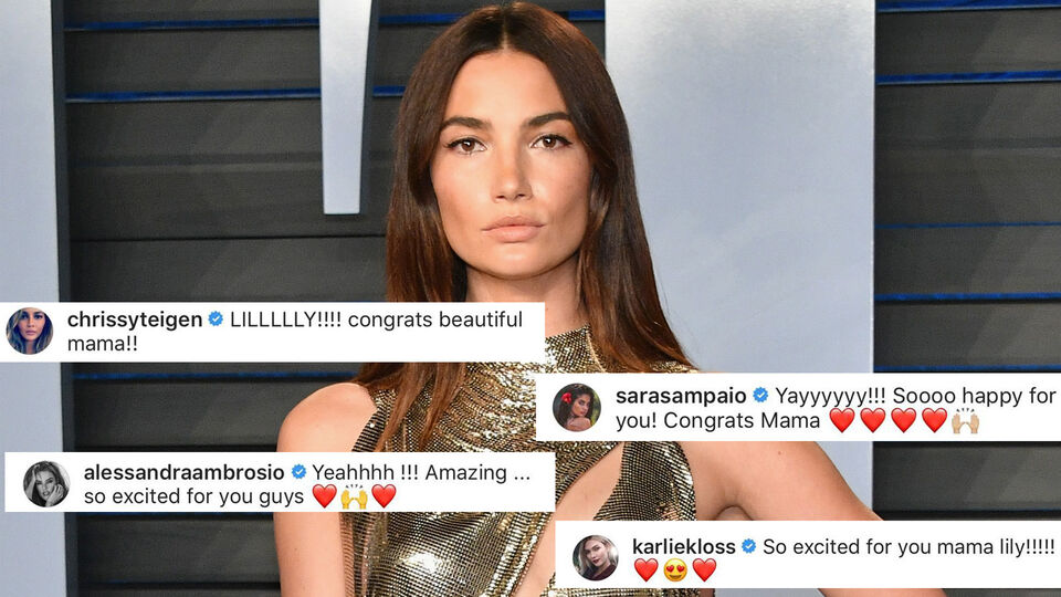 The Victoria's Secret Angels Came Out In Full Force To Congratulate Lily Aldridge On Her Pregnancy Announcement