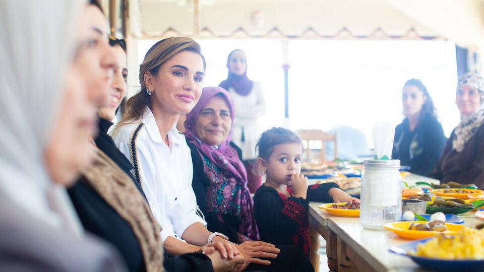 Inside Queen Rania's Visit To Ajloun's Al Kifah Cooperative Society