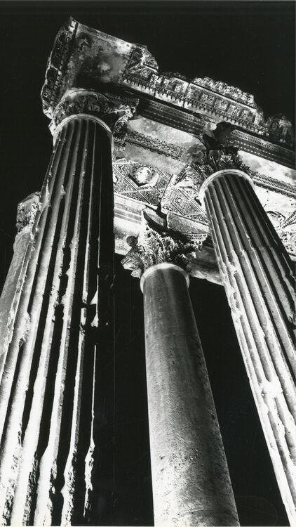 Manoug Alemian Bacchus Temple at night