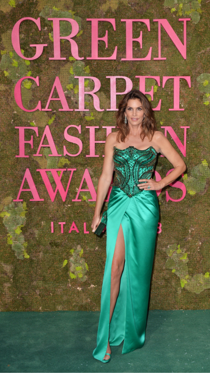 Celebs Show Out For The 2018 Green Carpet Fashion Awards in Italy