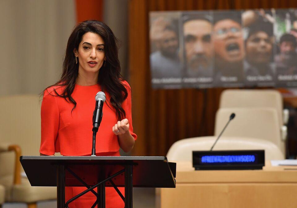 Amal Clooney Speaking at UN
