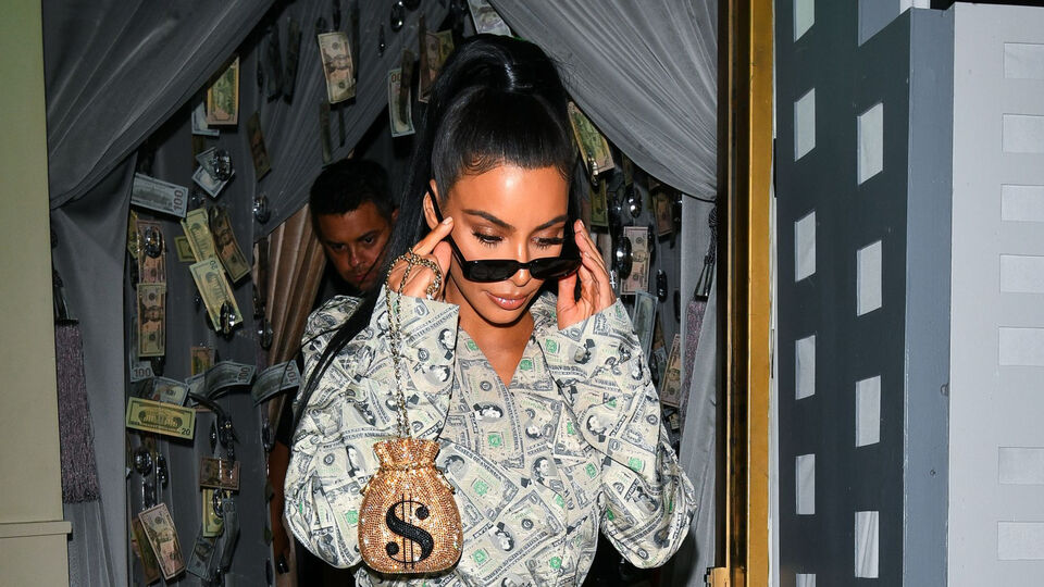 Kim Kardashian Wore An Outfit Completely Covered In Money