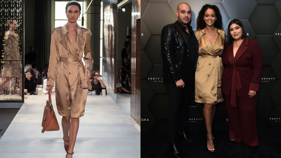 Rihanna Sports A Fresh-Off-The-Runway Burberry Trench While On Stage In Dubai