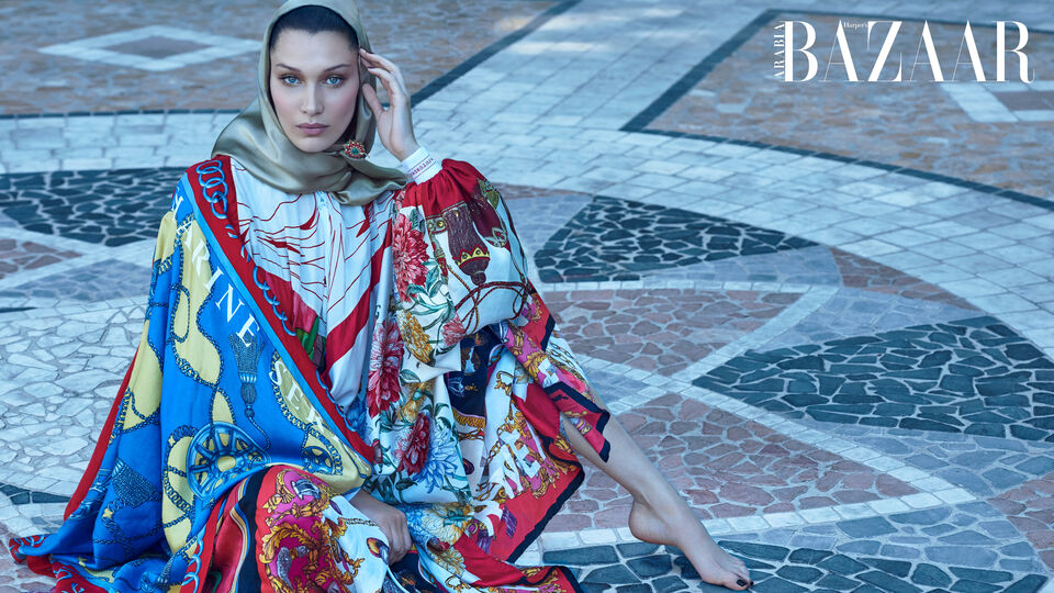 October Cover Star Bella Hadid Weaves An Arabian Enchantment