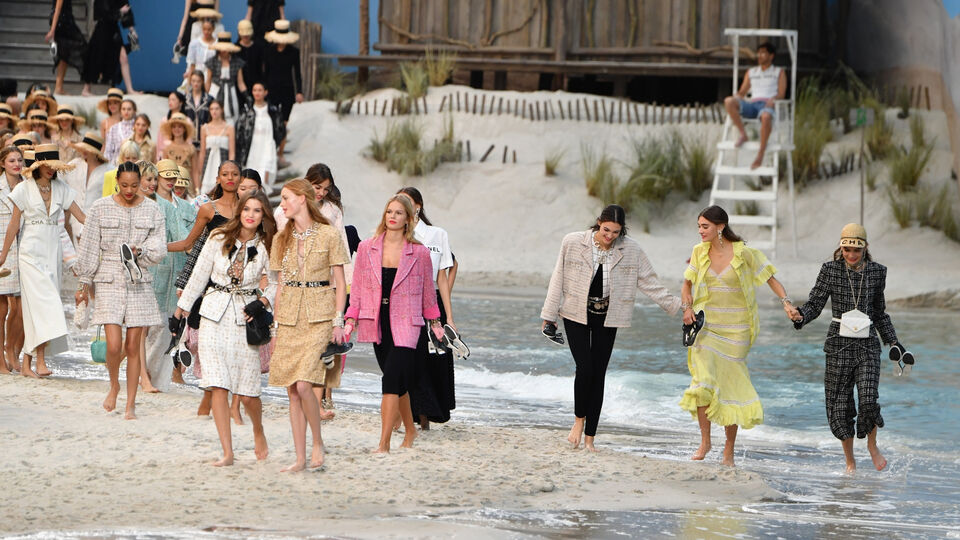 Karl Lagerfeld Turned Le Grand Palais Into A Beach For The Chanel Show