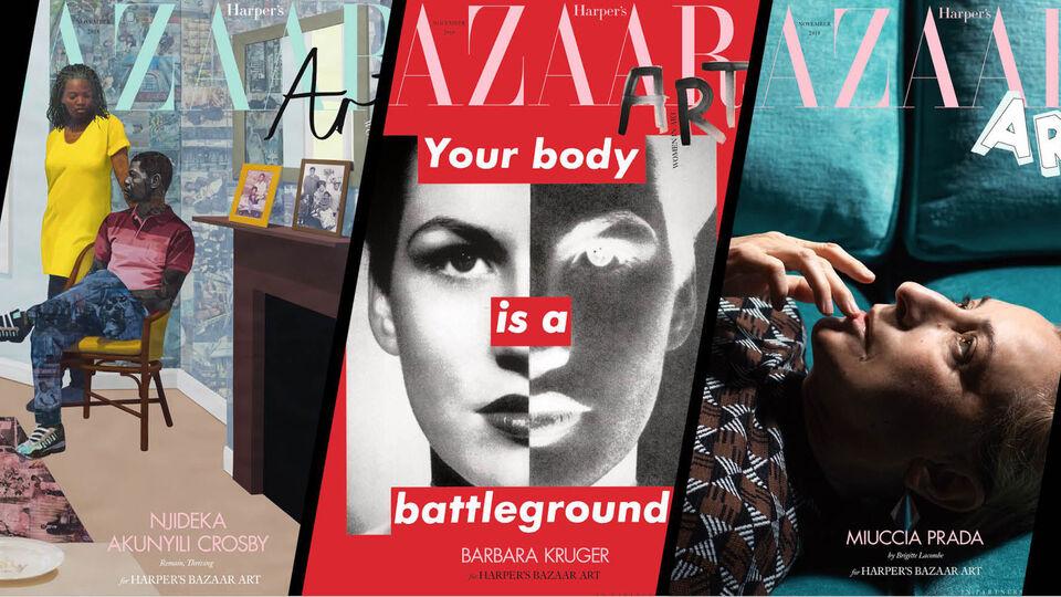 Harper's Bazaar UK Unveils 6 Covers Featuring Top Female Artists For Bazaar Art