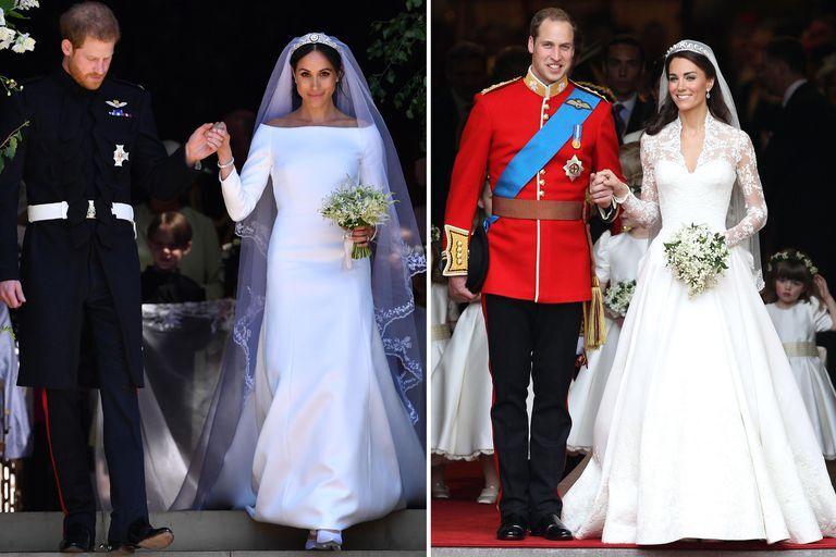 Meghan Markle Kate Middleton Wedding Dress