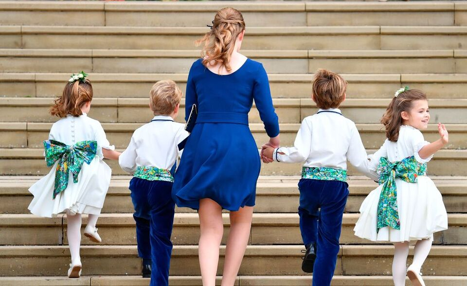 Princess Eugenie's Bridal Party Outfits Featured Artwork By This American Artist