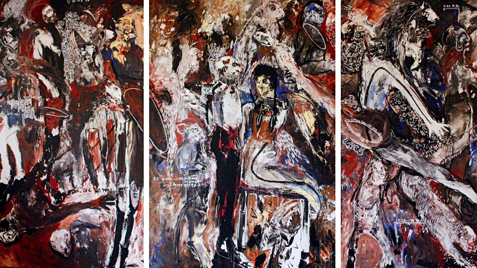 Untitled Triptych - Soly Cisse Fine Art
