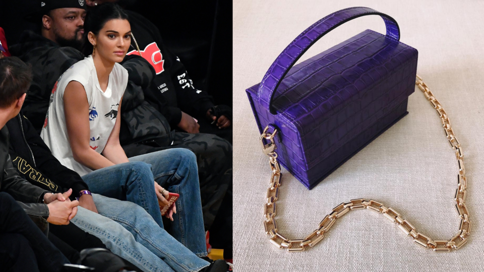 """Kendall Jenner Carries Dubai's """"It"""" Bag Courtside At A Laker's Game"""