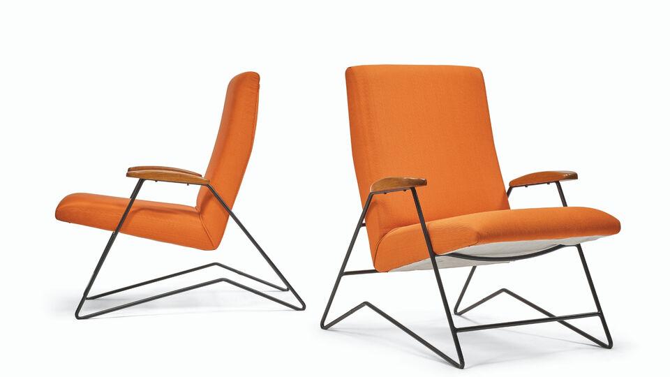 Martin Eisler And Carlo Hauner, pair of armchairs