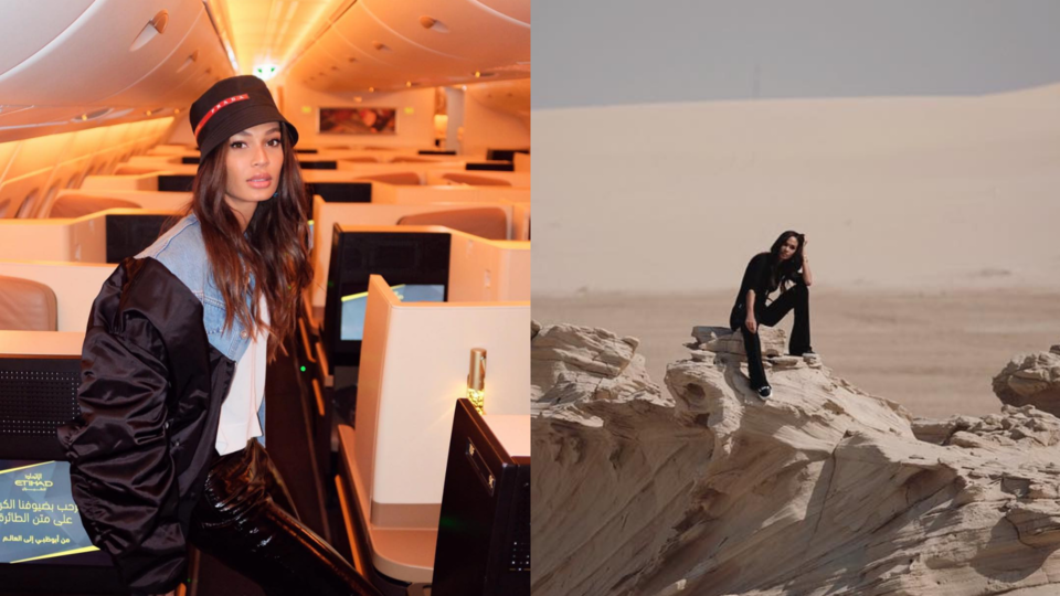 Joan Smalls Just Landed In Abu Dhabi And She's Absolutely Fan-Girling