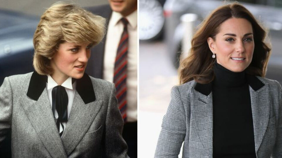 Kate Middleton Had A Princess Diana Moment In Her Gray Blazer